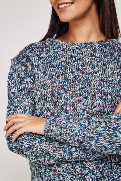 Multi Coloured Knitted Jumper