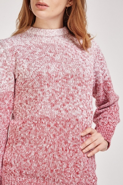 Ombre Speckled Knit Jumper