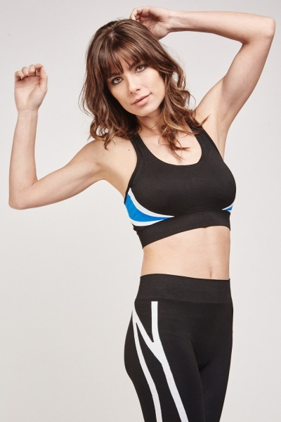 Colour Block Contrasted Sports Bra