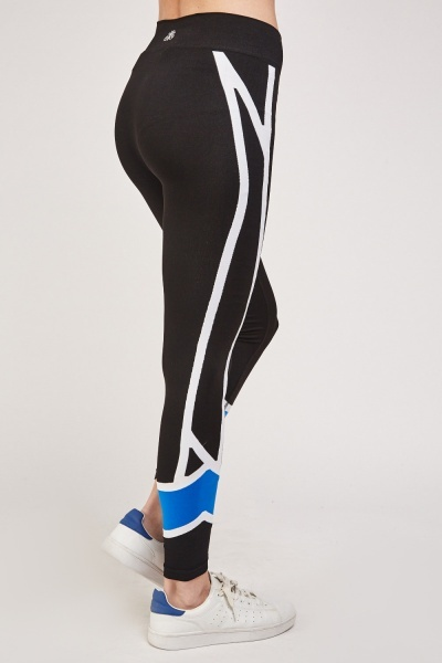 Colour Block Contrasted Sports Leggings