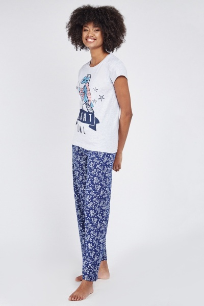 Night Owl Printed Pyjama Set