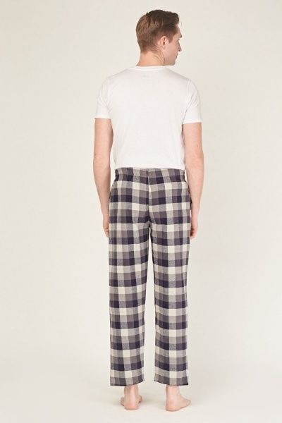 Check Grid Knit Pyjama Bottoms