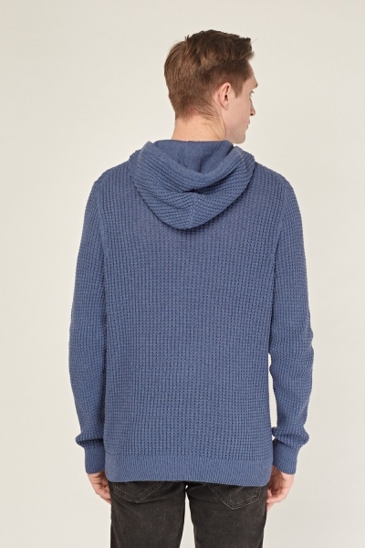 Hooded Loose Knit Jumper