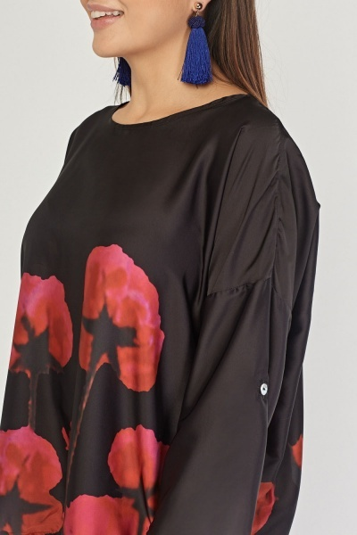 Printed Silky Oversize Top