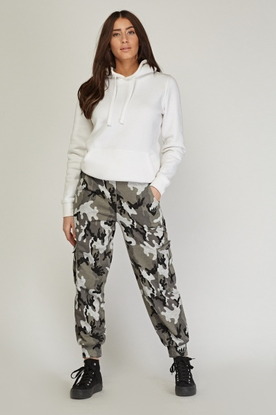 Camouflage Pattern Jogger Pants