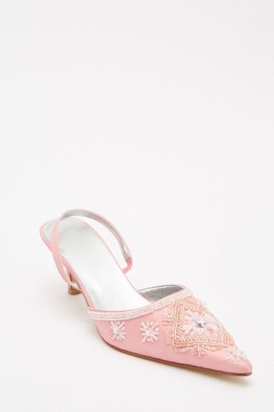 Embellishes Sling Back Sandals