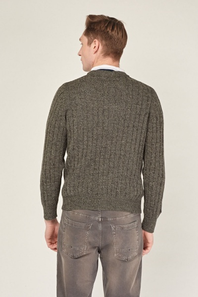 Cable Knit Men's Cardigan