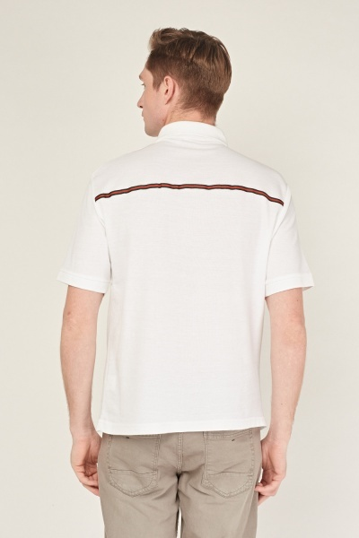 Contrast Stripe Polo T-Shirt