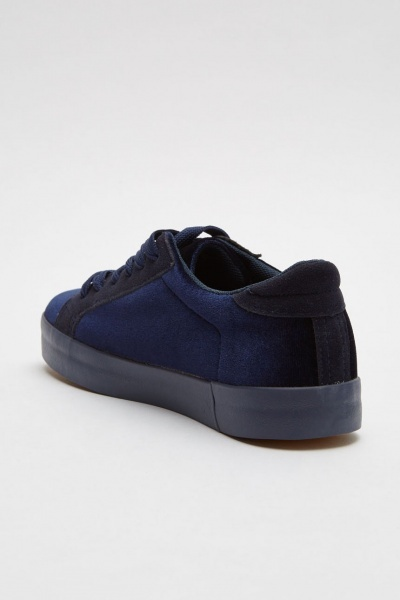 Star Patch Trim Velveteen Trainers