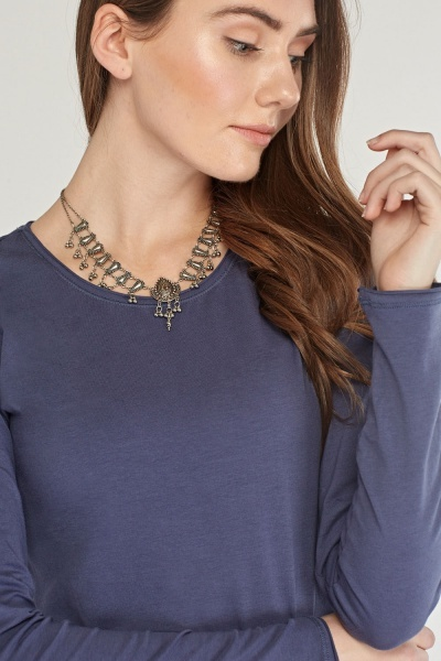 Casual Round Neck Top