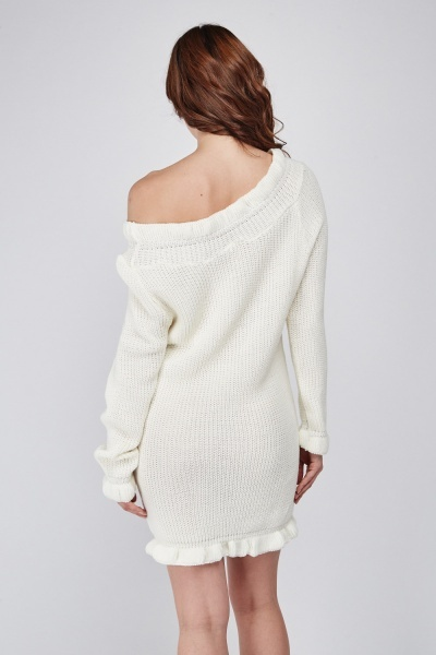 Ruched Trim Knitted Dress