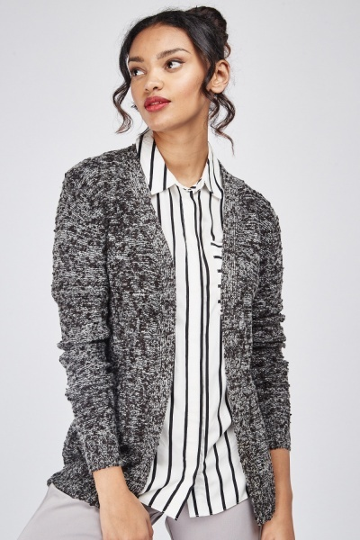 Fine Knit Speckled Cardigan