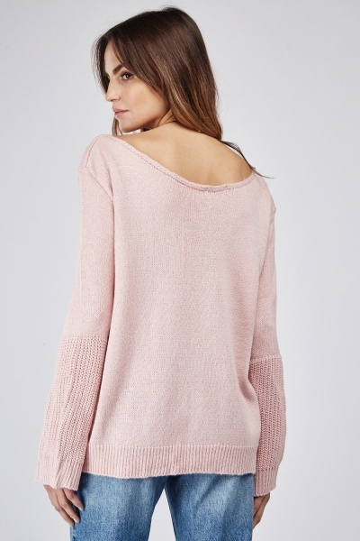 Fish Tail Sleeve Knit Jumper
