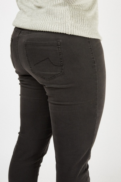 Mid Rise Charcoal Jeans