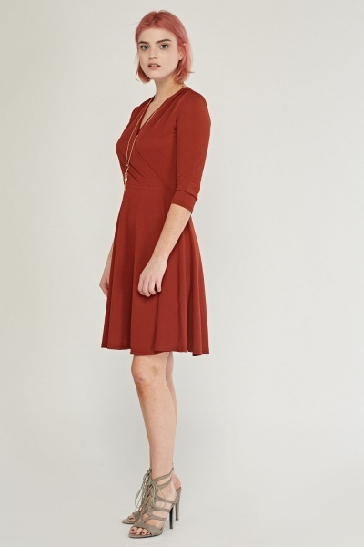 Midi Wrap Swing Dress