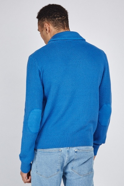 Ribbed Collar Knit Jumper