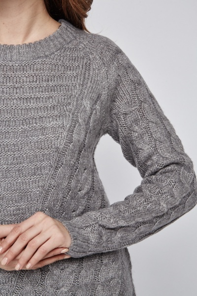 Cable Knit Contrasted Jumper