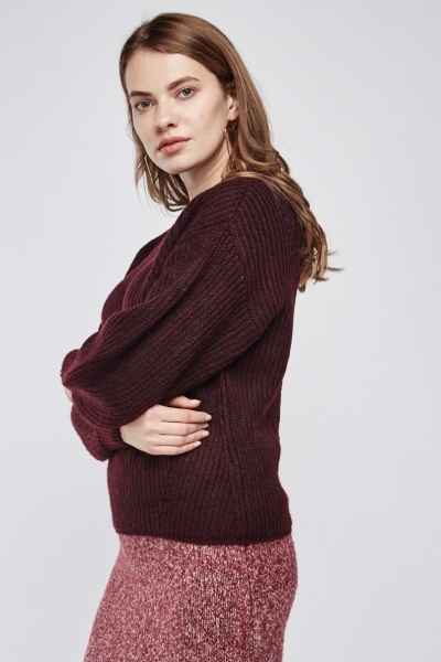 Raglan Sleeve Chunky Knit Jumper
