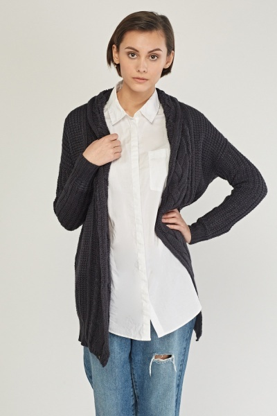 Cable Knit Long Sleeve Cardigan
