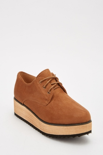 Suedette Lace Up Shoes