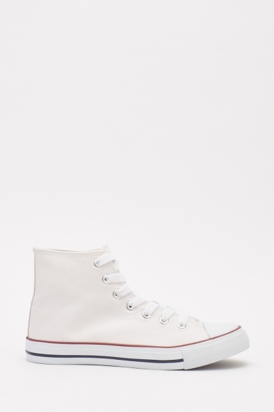 Textured Contrast Lace Up Trainers