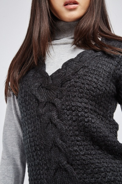 Chunky Cable Knit Top