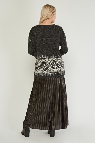 Aztec Pattern Knitted Jumper