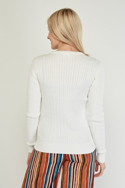 Cable Rib Knit Jumper