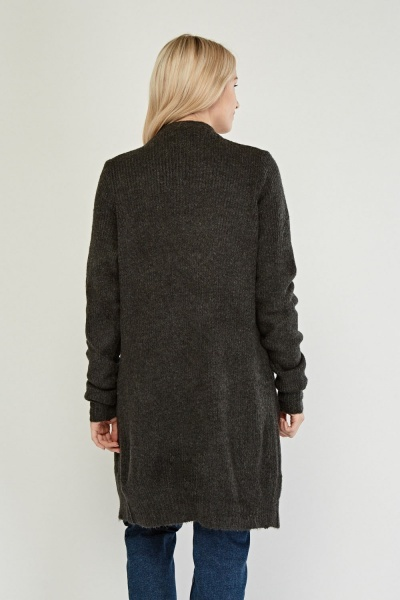 Charcoal Knitted Cardigan