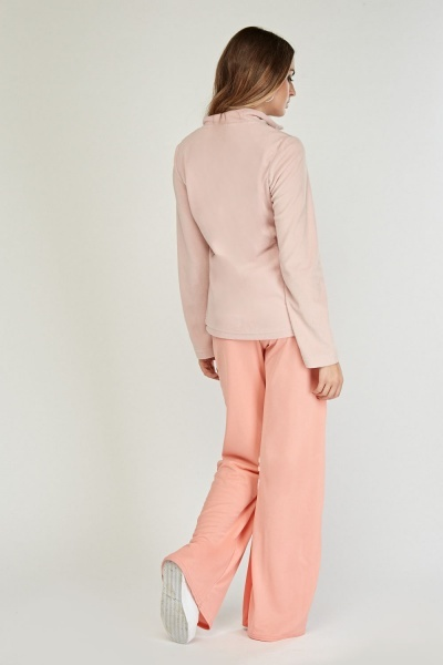 Dusty Pink Fleece Jumper