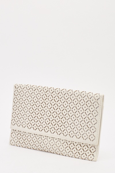 Laser Cut Envelope Clutch Bag