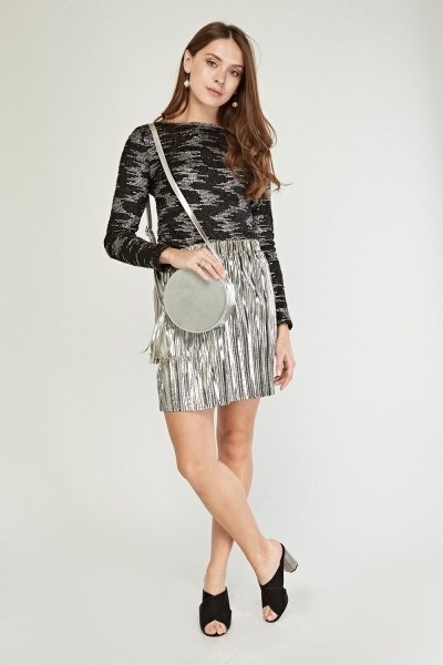 Metallic Textured Top