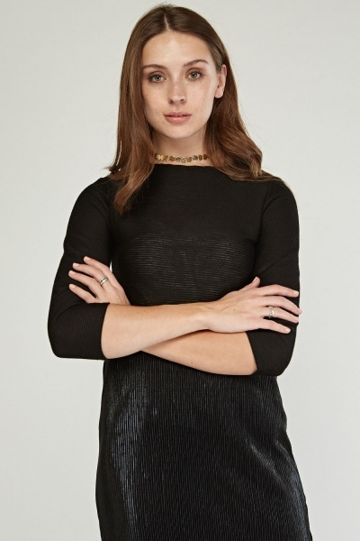 Ribbed 3/4 Sleeve Length Top