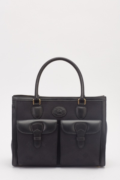 Twin Pockets Front Tote Bag