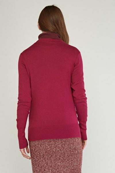 V Neck Fine Knit Sweater Magenta Or Navy Just 163 5