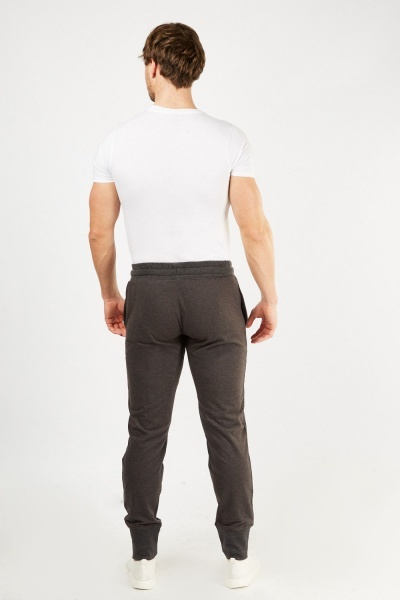 Ribbed Hem Basic Joggers