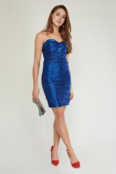 Ruched Metallic Strapless Mini Dress Just 163 5