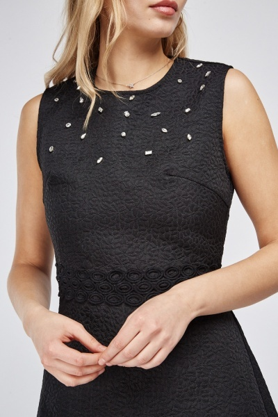 Embellished Top Skater Dress