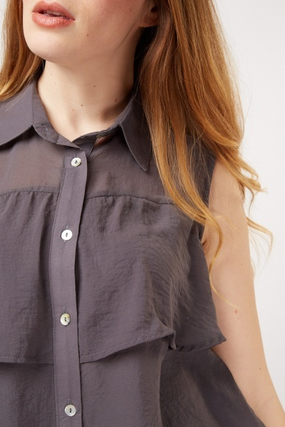 Ruffle Button Up Blouse