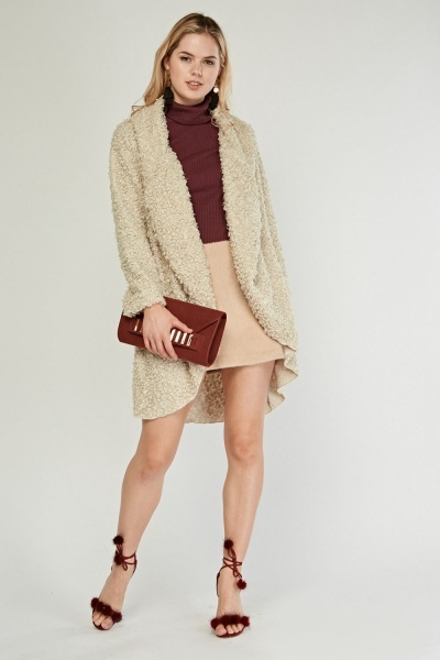 Bobble Knit Waterfall Jacket
