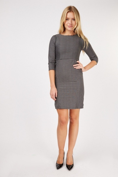 Horizontal Striped Pencil Dress