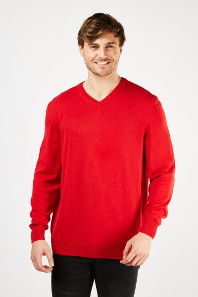 V Neck Basic Jumper