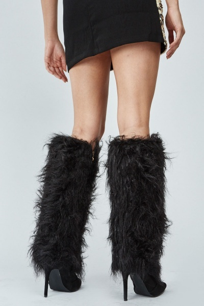 Faux Fur Overlay Boots
