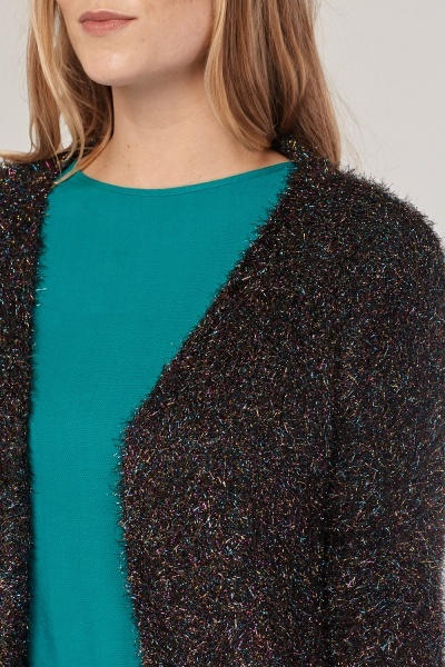 Multi Coloured Eyelash Cardigan