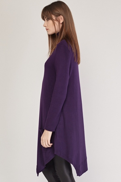 Roll Neck Knit Long Jumper