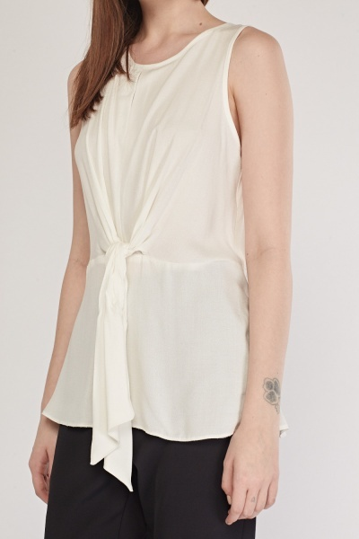Sleeveless Tie Up Shell Top