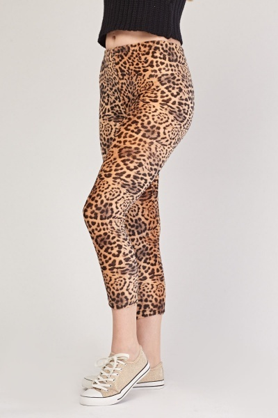 Leopard Print Fleeced Leggings
