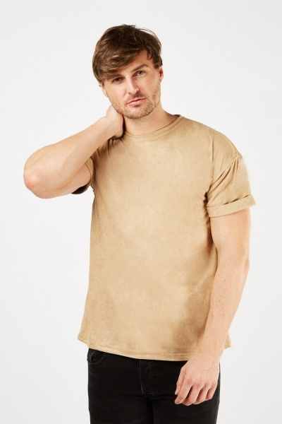 Suedette Short Sleeve T-Shirt
