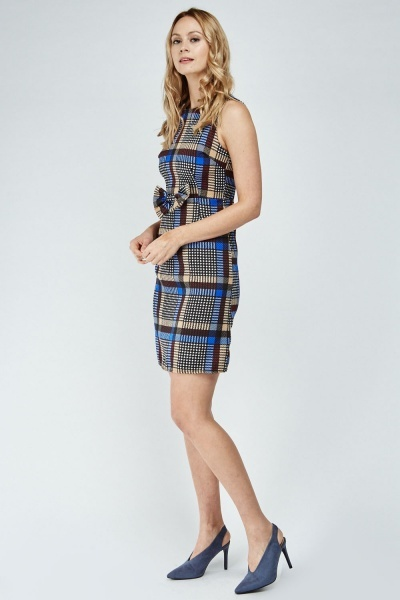 Bow Front Glen Check Dress