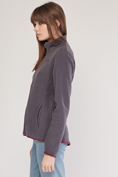 Contrasted Trim Poly-Fleece Jacket